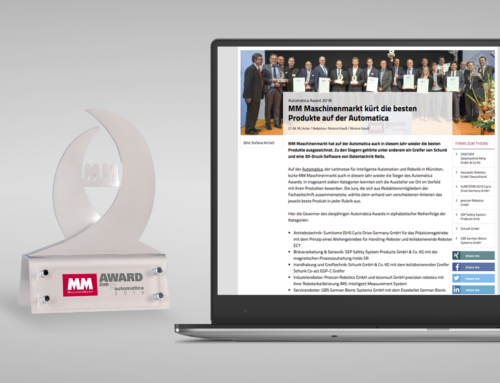 News: MM Award zur automatica 2018